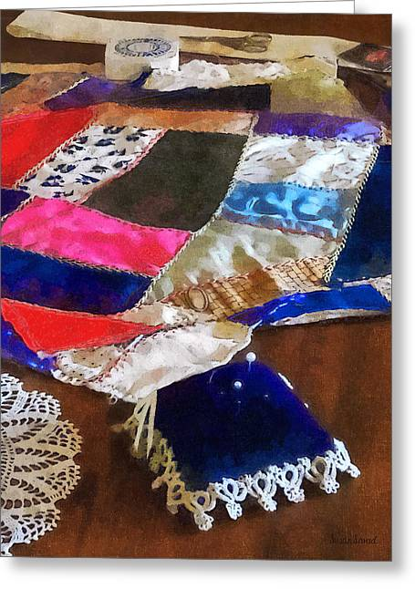 Sewing - Making A Quilt Greeting Card