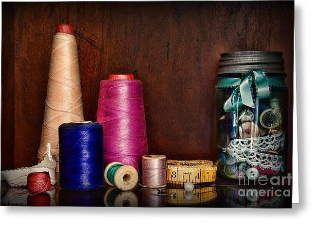 Sewing  Tools Of The Trade Greeting Card