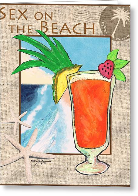 Sex On The Beach Drink Greeting Card