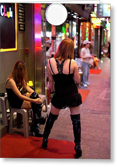 Sex Workers In Hong Kong Greeting Card by Tony Camacho
