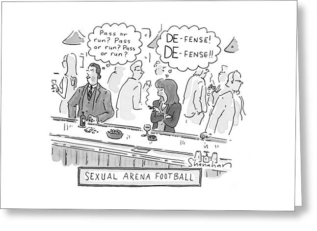 Sexual Arena Football Greeting Card