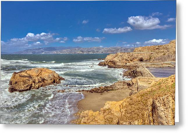Sf Beach In Hdr Greeting Card by Matthew Bamberg