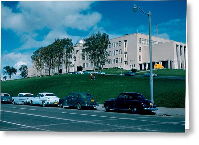 Sf City College 1956  2 Greeting Card by Cumberland Warden