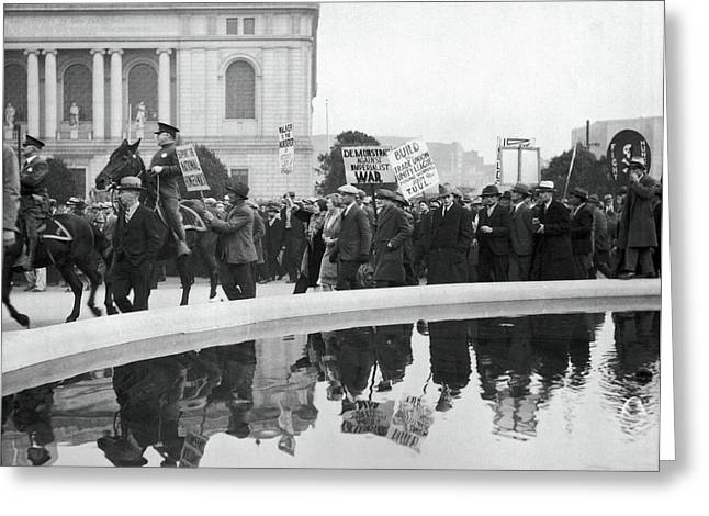 Sf Demonstration About Mooney Greeting Card by Underwood Archives