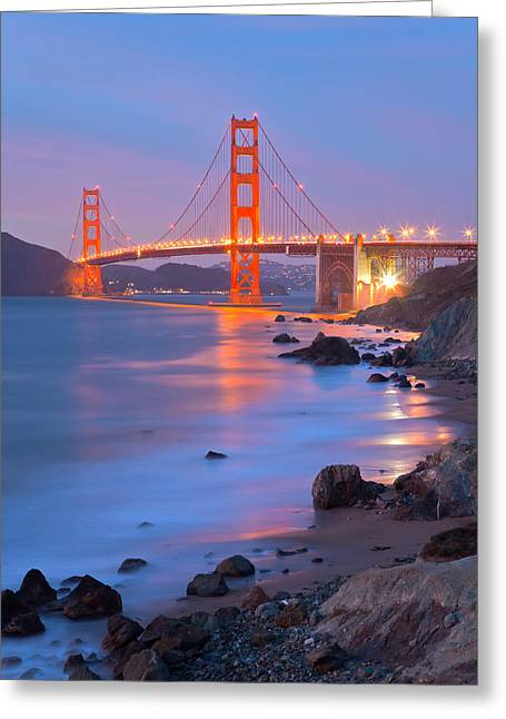 Greeting Card featuring the photograph Sf Icon by Jonathan Nguyen