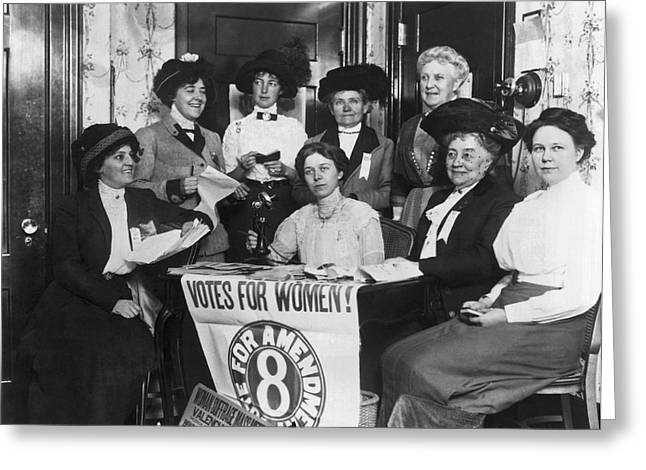 Sf Women's Suffrage Effort Greeting Card by Underwood Archives