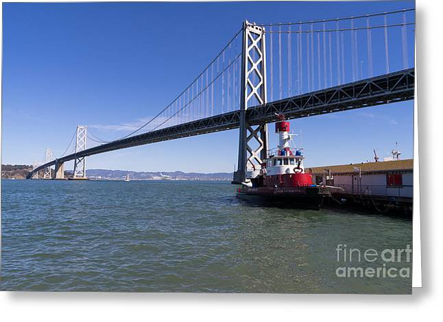Sffd Guardian Fireboat Number 2 At The Bay Bridge On The Embarcadero Dsc01839 Greeting Card