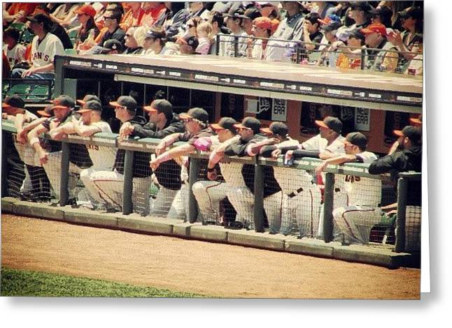 Sfgiants Mlb Baseball Dugout Photograph By Jaime Reyes