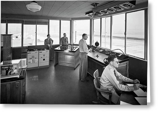 Sfo Control Tower Greeting Card by Underwood Archives