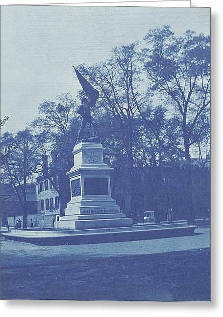 Sgt. Jasper Memorial, Madison Square, Savannah City Greeting Card by Artokoloro