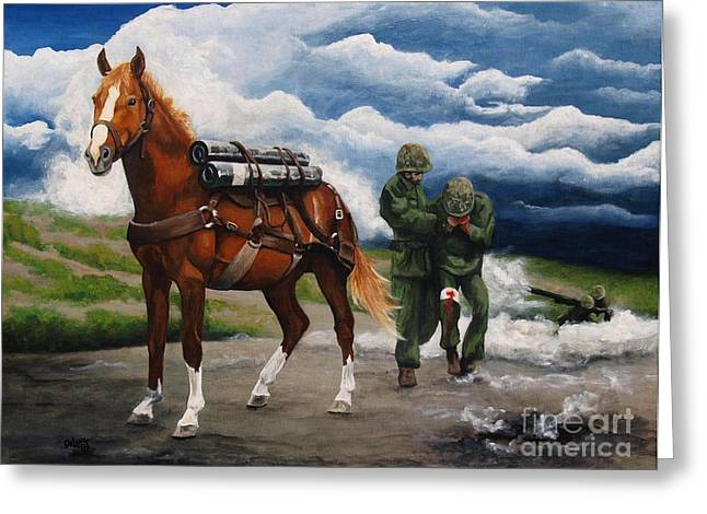 Sgt. Reckless Greeting Card by Pat DeLong