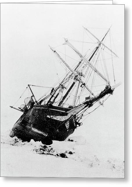 Shackleton's Ship Trapped In Antarctic Ice Greeting Card