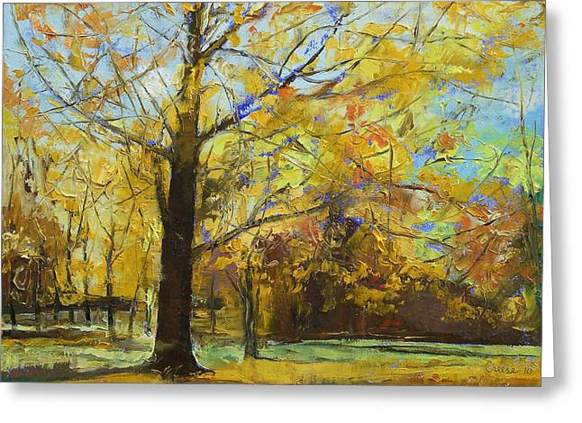 Shades Of Autumn Greeting Card by Michael Creese