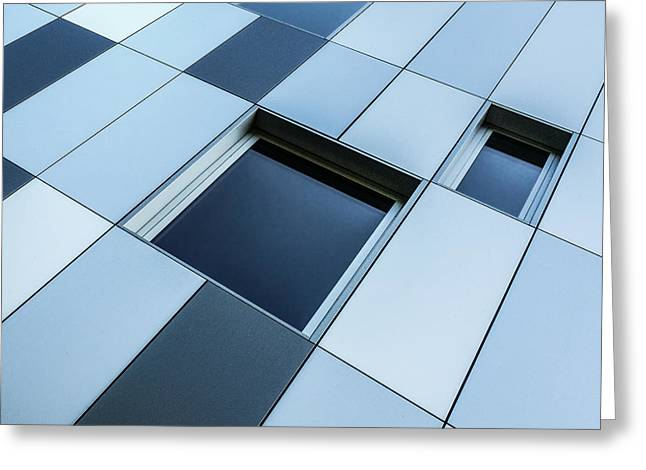 Shades Of Blue Greeting Card by Luc Vangindertael