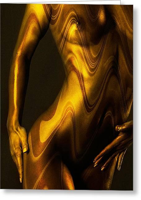 Shades Of Caramel Greeting Card by Naman Imagery