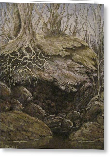 Greeting Card featuring the painting Shades Of Froud by Megan Walsh