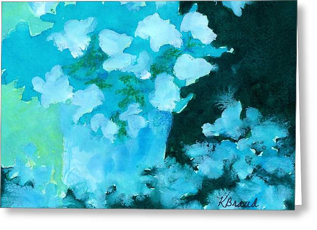Shades Of Green And Light Greeting Card by Kathy Braud