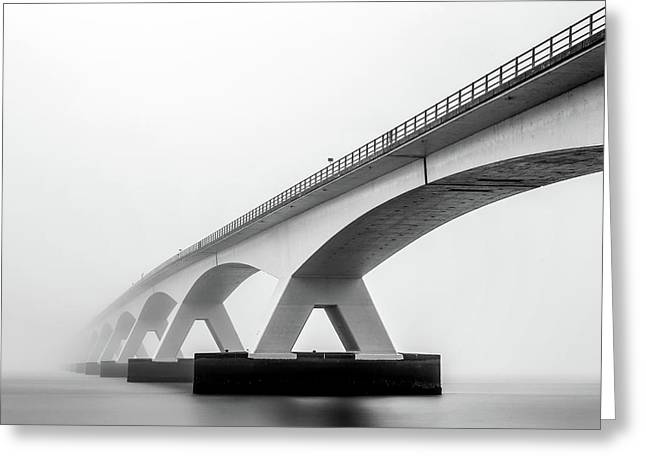 Shades Of Grey Greeting Card by Sus Bogaerts