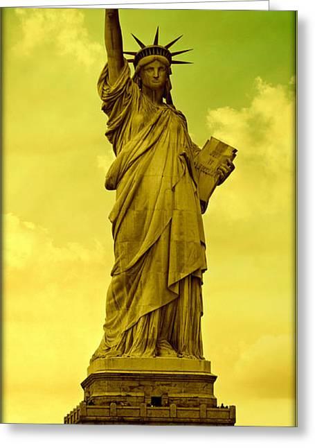Shades Of Liberty No 3 Greeting Card