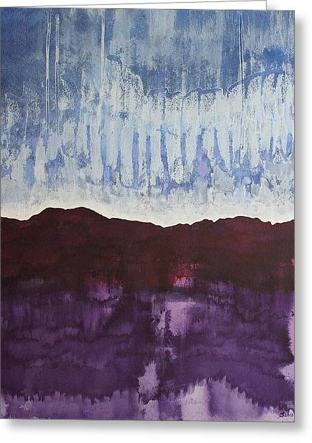 Shades Of New Mexico Original Painting Greeting Card by Sol Luckman