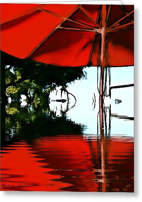 Shades Of Red Greeting Card by Robert Smith