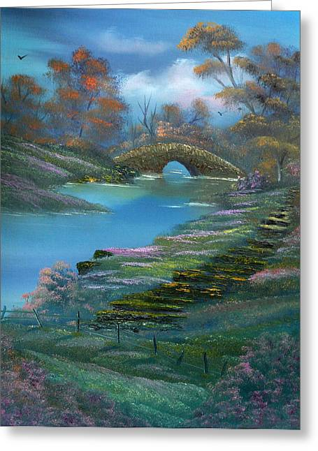Shades Of The Orient. Greeting Card by Cynthia Adams