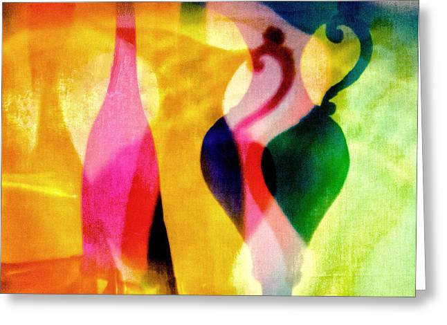 Shades Of Vase And Pitcher Greeting Card