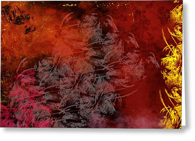 Shadow And Flame Greeting Card by Christopher Gaston