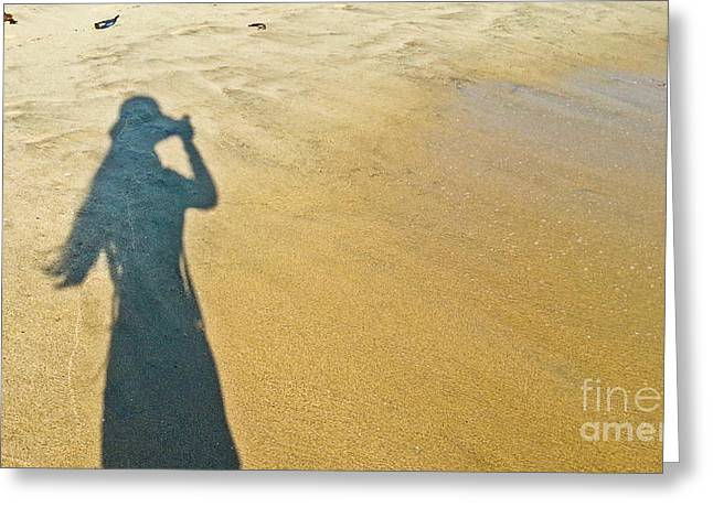 Shadow And Sand Raw Greeting Card