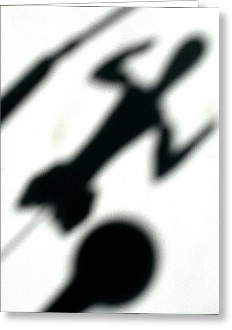 Shadow Art Greeting Card by Godfrey McDonnell