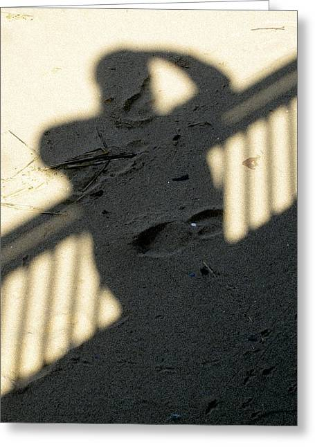 Shadow In The Sand Greeting Card