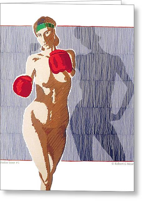 Shadow Boxer - 1 Greeting Card by Robert G Mears
