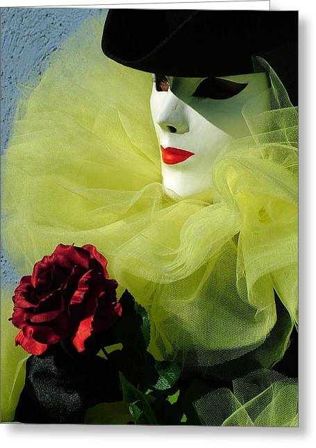 Shadow Cast Over Eye Greeting Card by Donna Corless