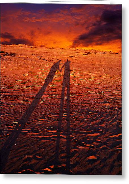 Shadow  Greeting Card by Gray  Artus
