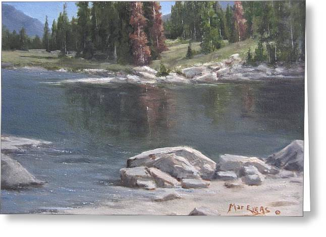 Shadow Lake  Greeting Card by Mar Evers