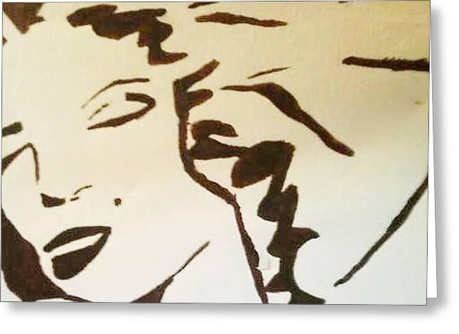 Shadow Monroe Greeting Card by Krystyn Lyon