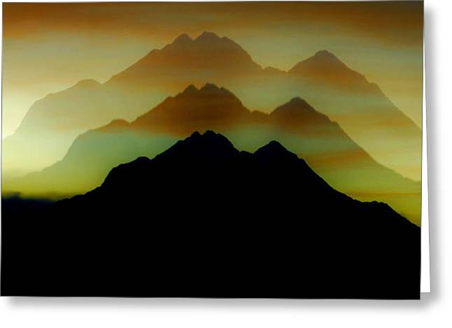 Shadow Mountain Greeting Card by Ron Day
