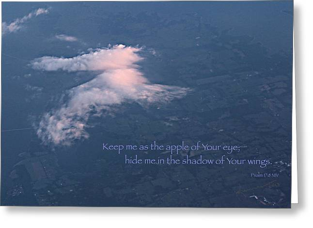 Shadow Of Your Wings Greeting Card by Kume Bryant