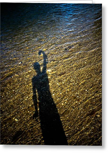 Shadow On The Water Greeting Card