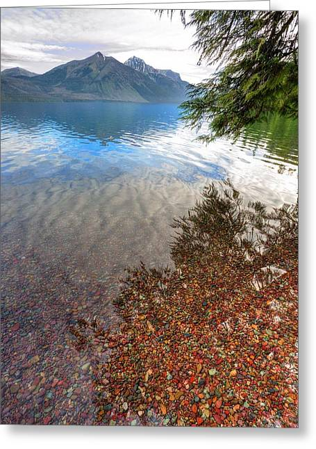 Greeting Card featuring the photograph Shadow Pebbles by David Andersen