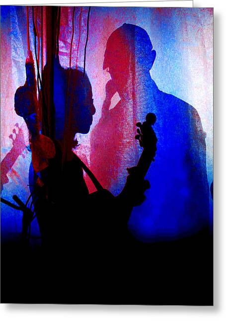 Shadow Play Greeting Card by Mike Flynn
