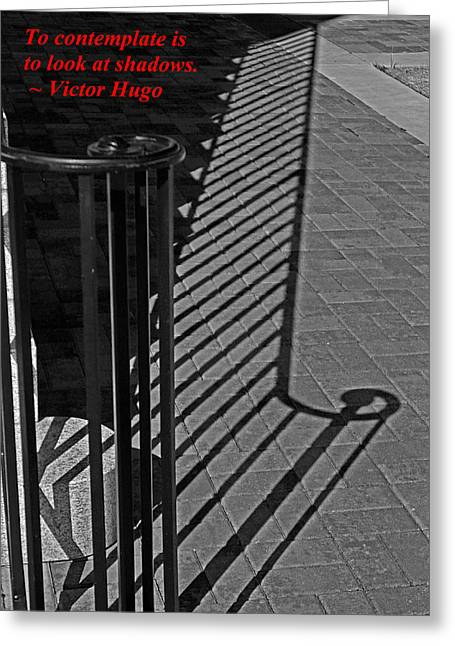 Shadow Railing Greeting Card by Andy Lawless