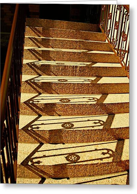 Shadow Steps Greeting Card by JAMART Photography