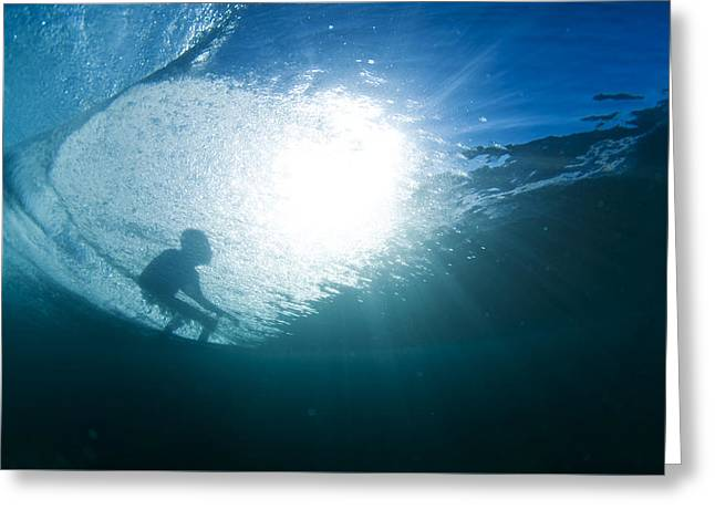 Shadow Surfer Greeting Card by Sean Davey