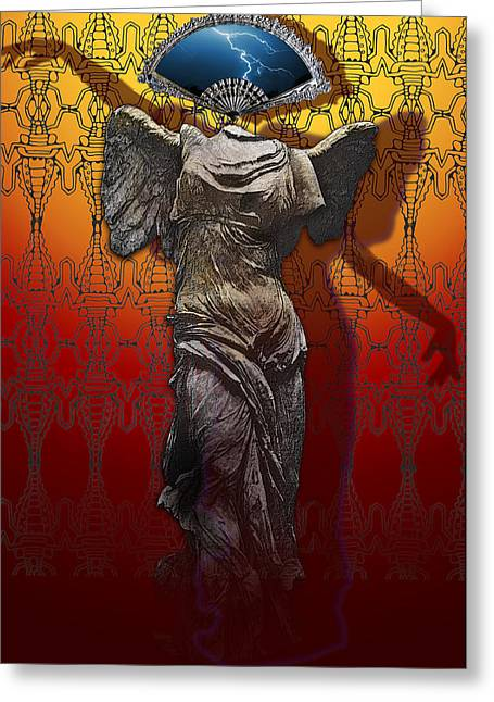 Shadowdancer Greeting Card by Larry Butterworth