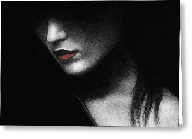 Shadowed In My Mind Greeting Card by Pat Erickson