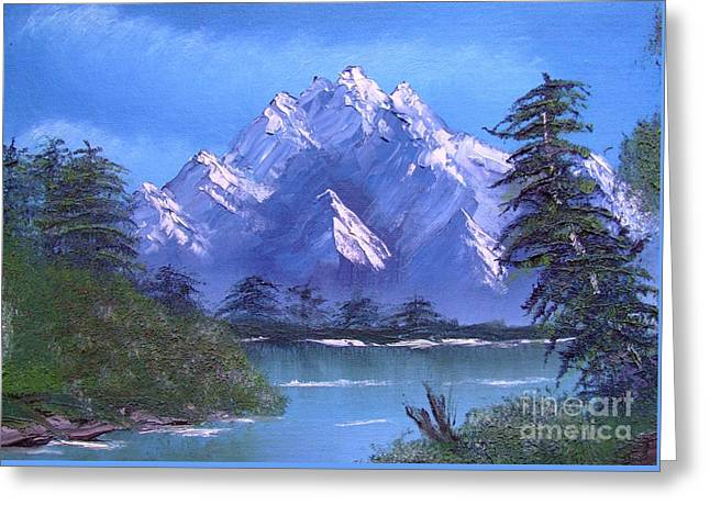 Shadowed Mountain Lake Greeting Card by Marianne NANA Betts