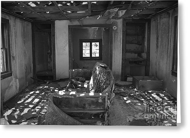 Shadowed Rooms Greeting Card by Terry Rowe