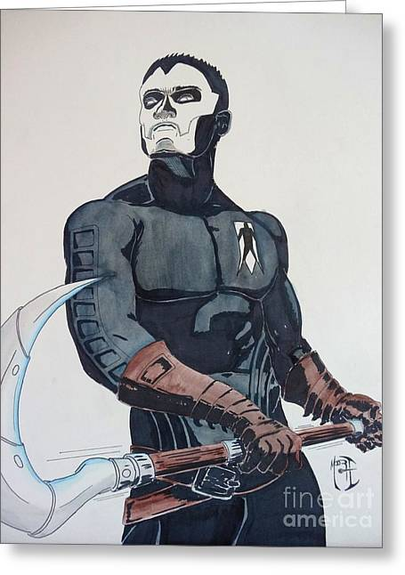 Shadowman II Greeting Card by Justin Moore