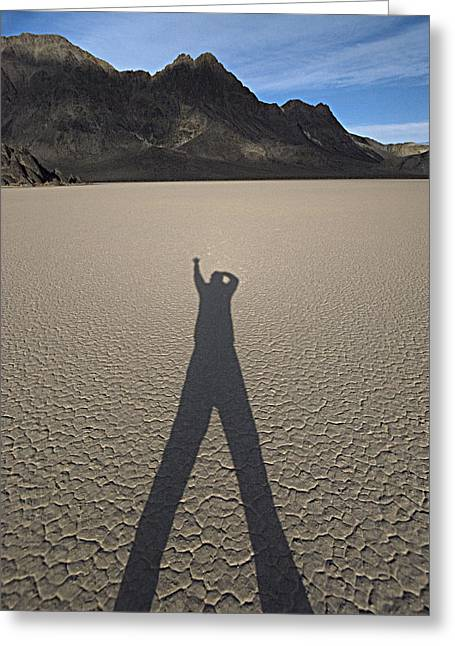 Greeting Card featuring the photograph Shadowman by Joe Schofield
